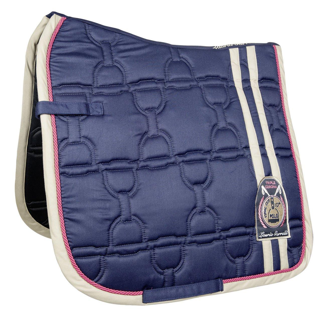 Hkm Hkm 4057052232282 Saddle ClothSanta pink-6900 Dark bluee pony much.