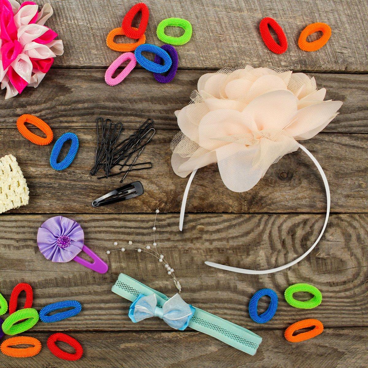 Bianco 30 Pezzi Cerchietti per Capelli in Plastica 10 mm Pianura Senza Denti Fai Da Te Fascia per Capelli Fasce Pianura per Ragazza e Donna