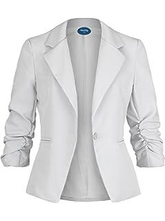 Baumwolle Damen Blazer Freya - Schwarz - S  Amazon.de  Bekleidung 09ff01551b