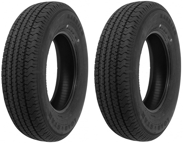 eCustomRim 2-Pack Radial Trailer Tires ST205/75R15 ST 205/75 R 15 in. Load Range C Tire