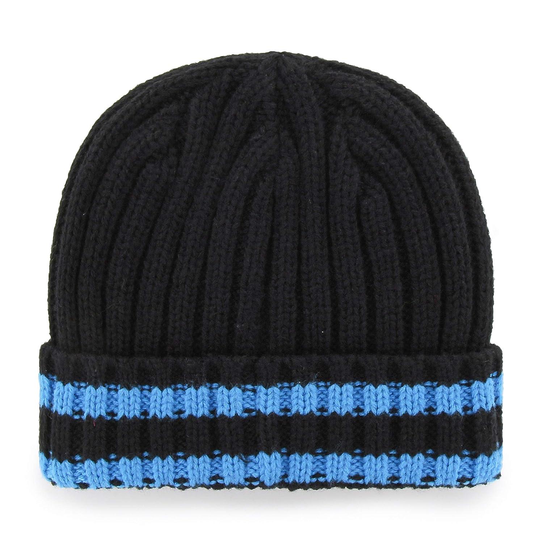 NFL Mens Carolina Panthers OTS Bure Cuff Knit Cap Team Color One Size