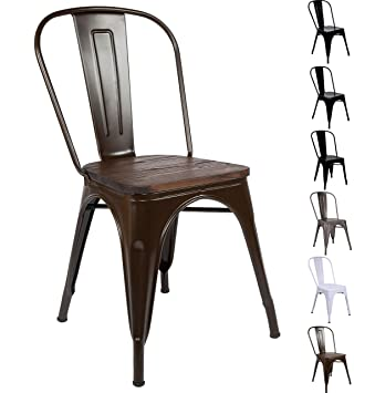 Fabulous All About Chairs Vintage Tolix Style Stackable Metal Dining Machost Co Dining Chair Design Ideas Machostcouk