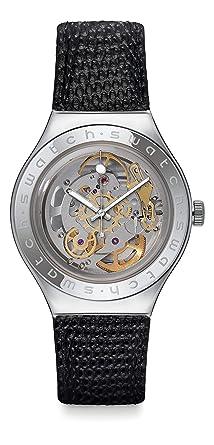 Swatch Reloj Analogico para Mujer de Cuarzo con Correa en Cuero YAS100D: Amazon.es: Relojes