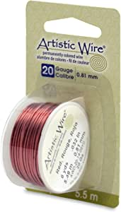 Beadalon Artistic, 20 Gauge, Red Color, 6 yd (5.5 m) Craft Wire