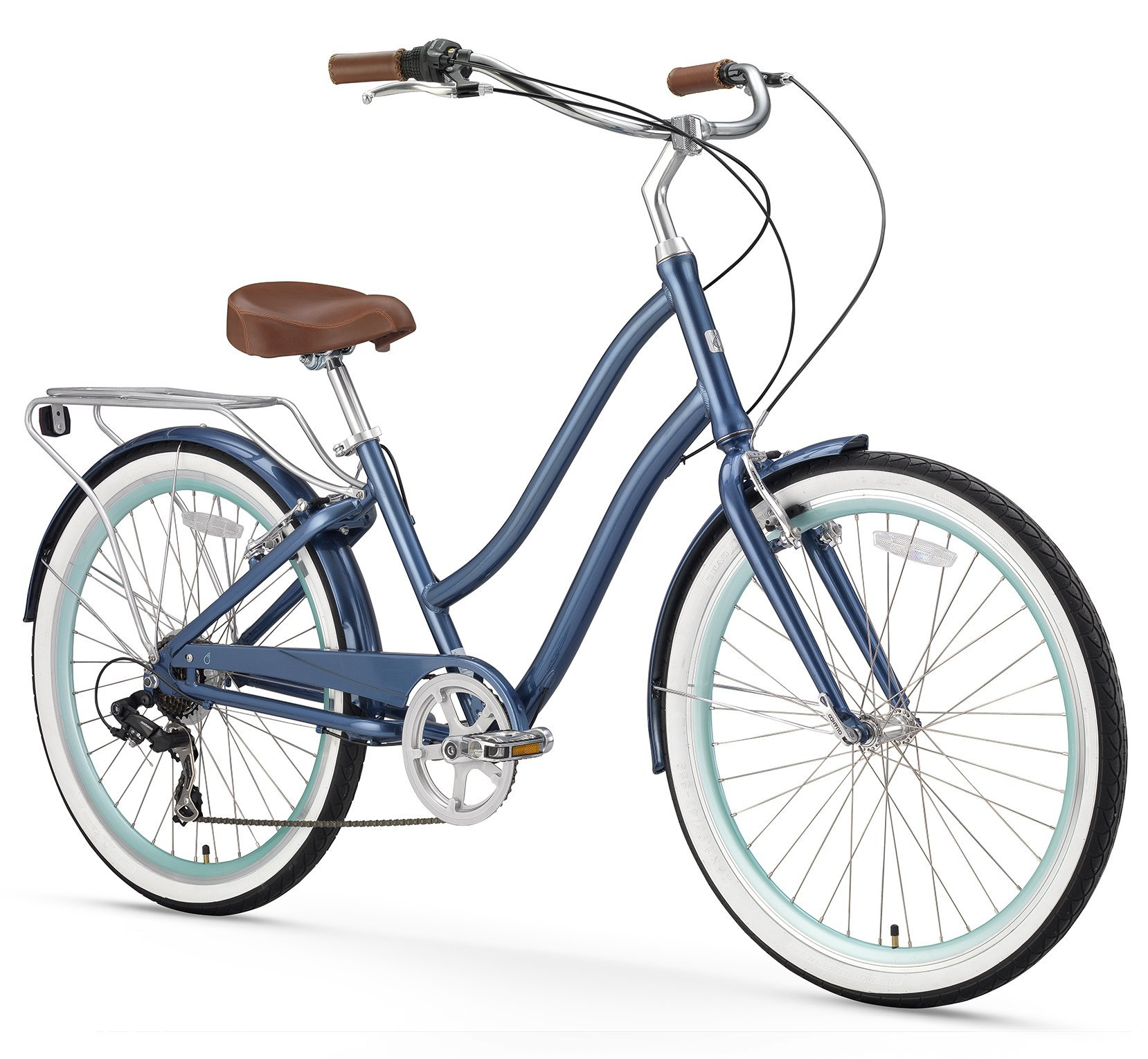 ca97963a2c1 sixthreezero EVRYjourney Women s Step-Through Hybrid Cruiser Bicycle  (24-Inch and 26-Inch)