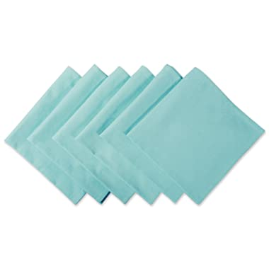 DII 100% Cotton Cloth Napkins, Oversized 20x20  Dinner Napkins, For Basic Everyday Use, Banquets, Weddings, Events, or Family Gatherings - Set of 6, Aqua