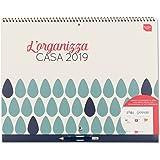 Boxclever Press L'Organizza Casa calendario mensile 2019. Calendario familiare con visione mensile e ampio spazio per gli impegni. Inizia ora e dura fino a Dicembre 2019