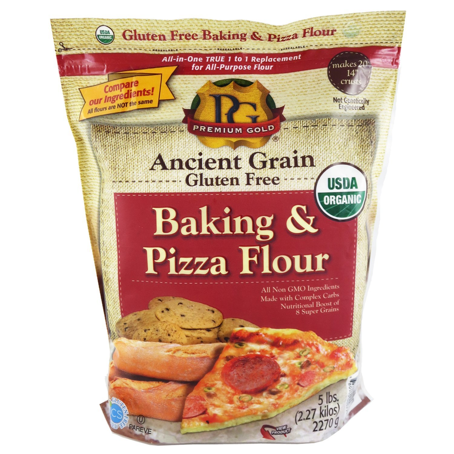 Premium Gold Baking & Pizza Flour, 5 Pound