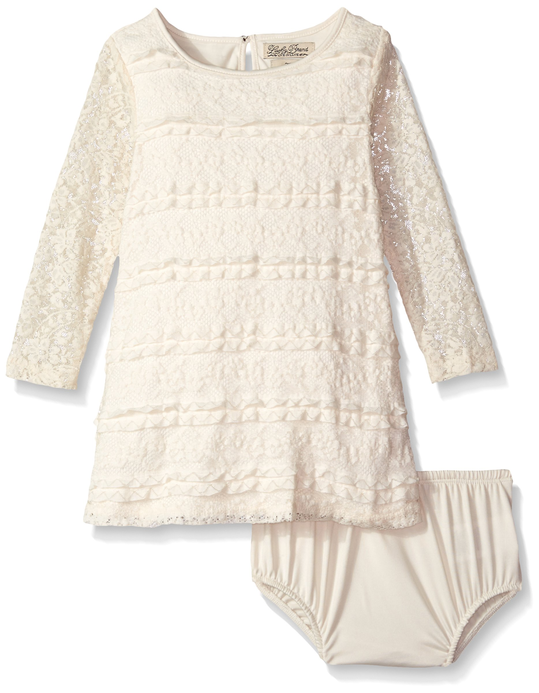 Lucky Brand Little Girls' Kingston Dress, Antique, 6