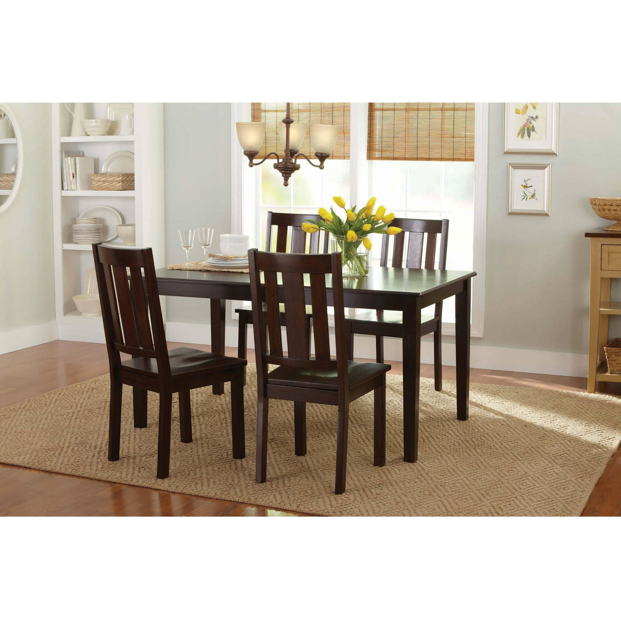 Better Homes and Gardens Bankston Dining Chairs (Set of 2 Mocha)