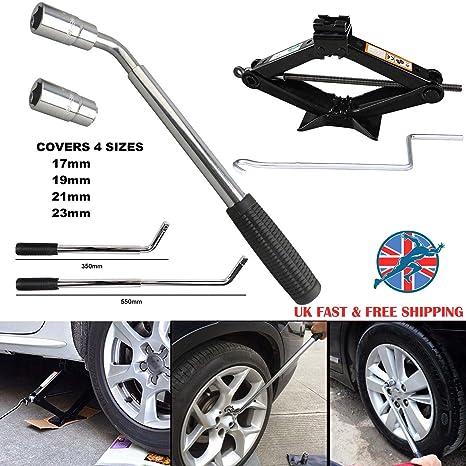 Coche Van extensible rueda Brace Llave telescópica mango vaso 17 19 21 23 mm y elevador
