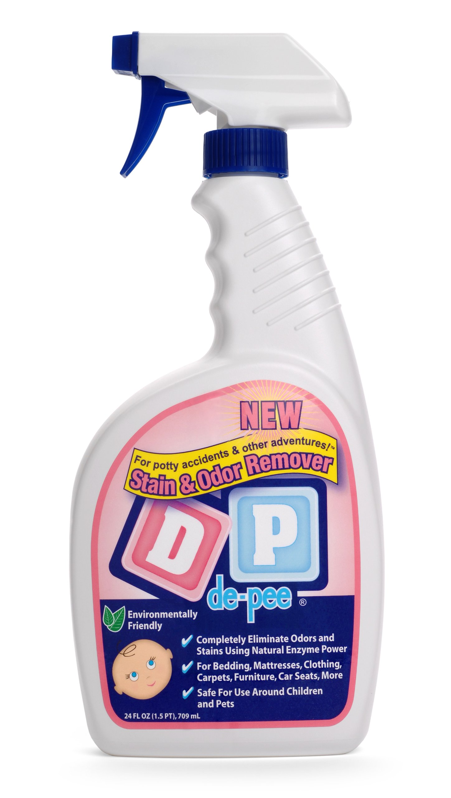 DP (de-pee)® Stain & Odor Remover - 24oz - For Potty Accidents & Other Adventures! - Environmentally Friendly