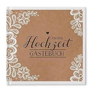 Bigdaygraphix Gastebuch Hochzeit Quadratisch 21 X 21cm 100 Weisse