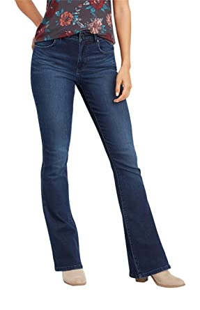 bd7136e92ed977 maurices High Rise Flare Jean - Everflex Women's Dark at Amazon Women's  Jeans store