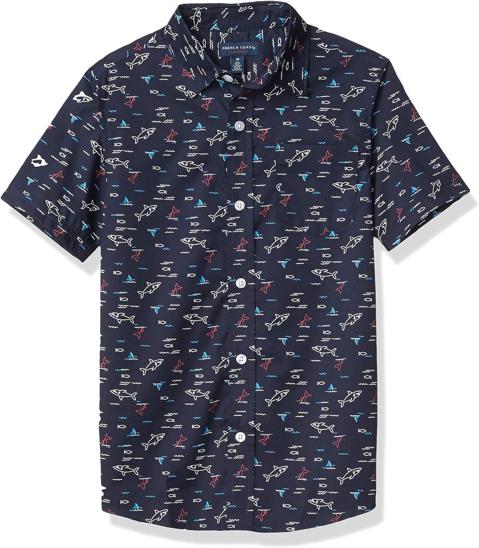 French Toast Boys' Short Sleeve Woven Shirt