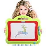 Magnetic Drawing Board For Kids | 4 Color Zone Erasable Magna Doodle Pad For Educational Sketching | For Boys and Girls 3 Years and Up | Green