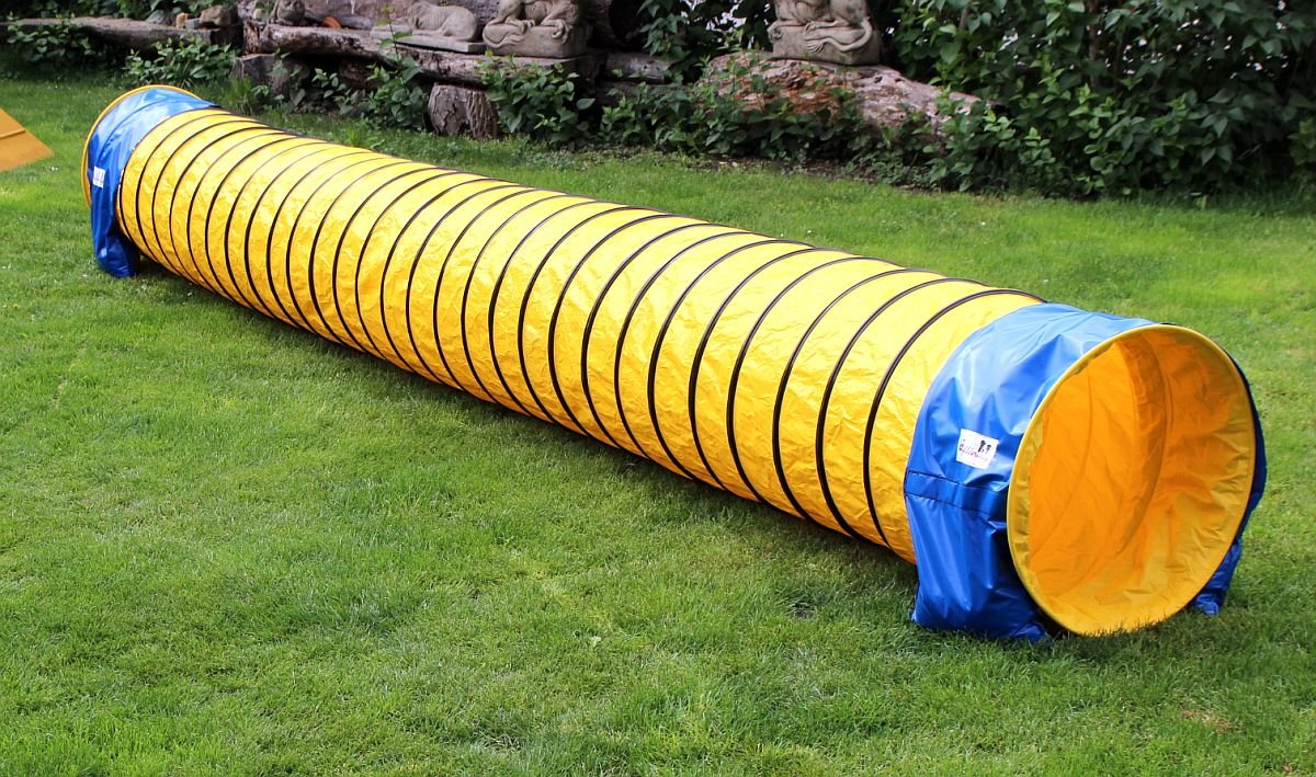 Callieway® Dog Agility Tunnel Fun NEU/ Agi Tunnel FUN 5m lang / 60cmØ Agility Gerät ideal für Small Hunde bis 10kg