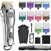 Hatteker Mens Hair Clipper Hair Trimmer Cord Cordless Professional Hair Cutting Kit Beard Trimmer Rechargeable IPX7…