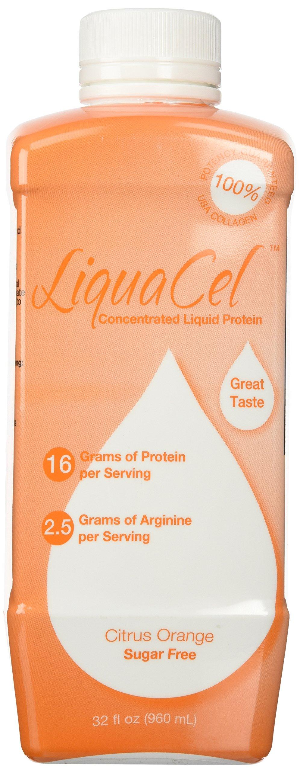 Liquacel Liquid Protein Sugar Free 32oz Orange Flavor by Global Healing