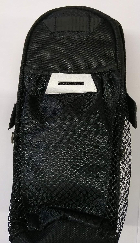 Color Negro y Verde Reflectante WANDERVOGEL Bolsa para sill/ín de Bicicleta con Soporte para Botellas