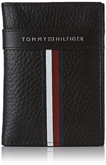 Tommy Hilfiger - Corporate Leather Mini Cc Bifold, Carteras Hombre, Negro (Black), 1x1x1 cm (W x HL)