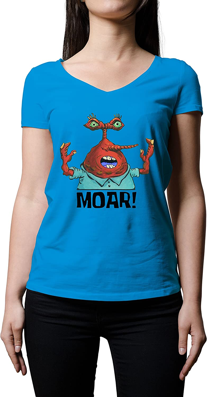 Moar Bob Esponja cangrejo – Camiseta de manga corta para mujer ...