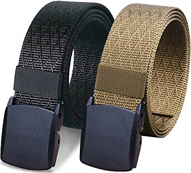 Generic Mens Fashion Outdoor Sports Military Tactical Nylon Waistband Canvas Web Belt