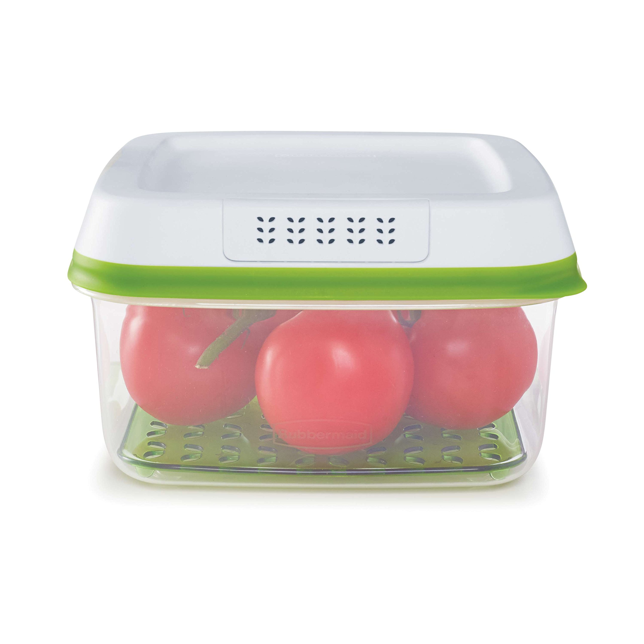 Rubbermaid FreshWorks Produce Saver Food Storage Container, Large Square, 11.1 Cup, Green 1996984 by Rubbermaid