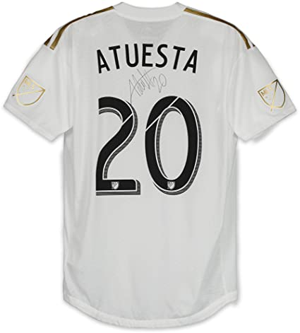 131be7796 Eduard Atuesta Los Angeles FC Autographed Player-Issued White  20 ...