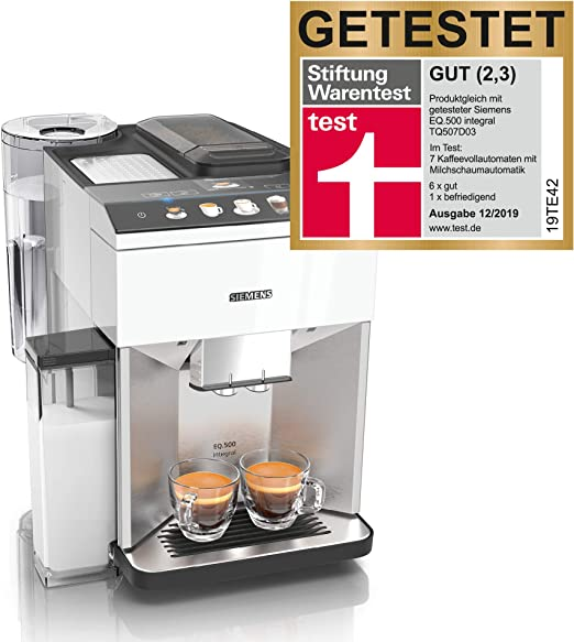 Siemens EQ.500 Cafetera automática, fácil de usar, recipiente para ...