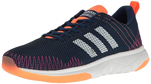 adidas Neo Women's Cloudfoam Super Flex w Running Shoe, Mystery Blue/White /Glow