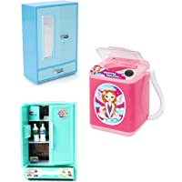 RATNA'S Premium Quality 3 in 1 Combo Washing Machine,STOREWELL & Refrigerator Toys for Kids. The Best Pretend Play Toys for Hours of Fun.(Assorted Colours)