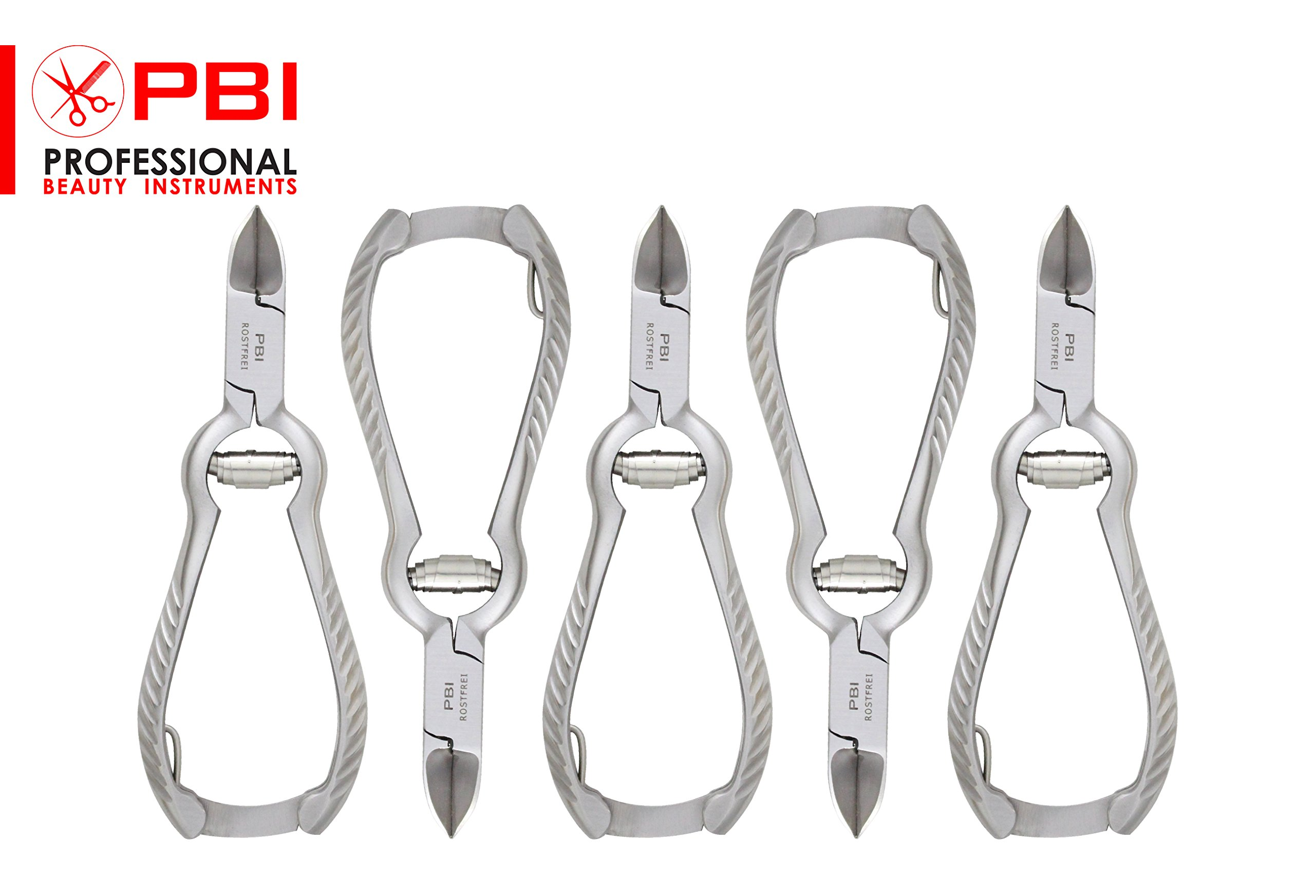 Nail Nipper Manicure, Pedicure Clippers For Ingrowing Nails With Safety Lock ( 5 Pieces Set ) From PBI
