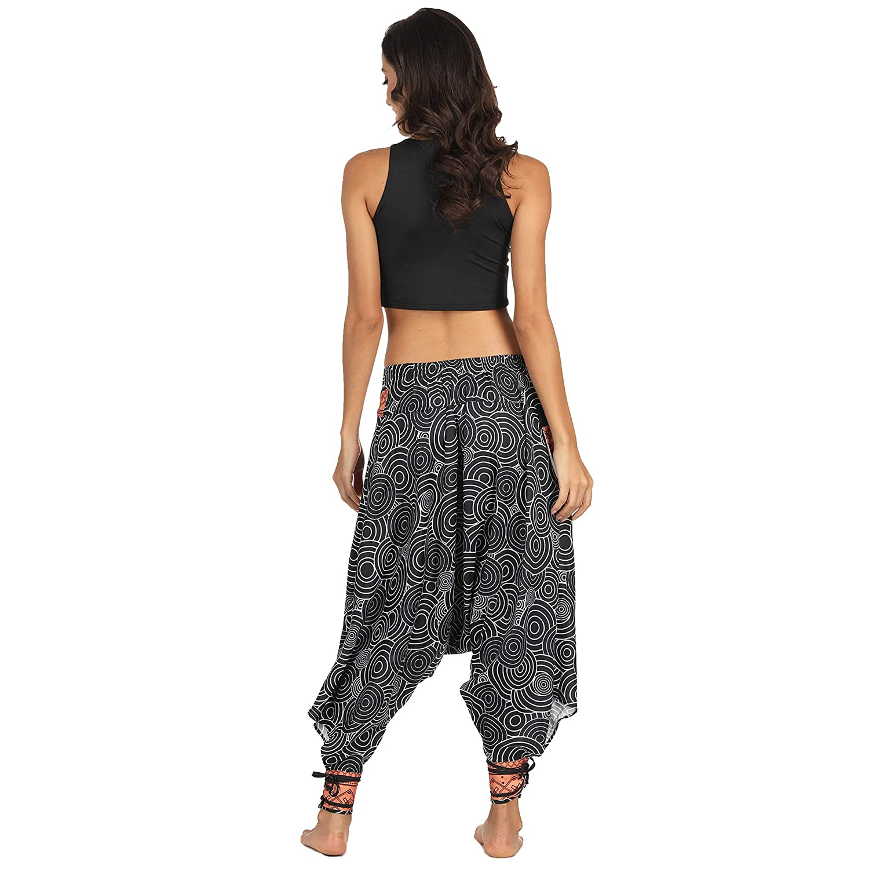 Modelli in Bianco e Nero Pantaloni Dancing Pantaloni Harem Sono Disponibili Diverse opzioni. Yogaism Nuovi Pantaloni Larghi Larghi Yoga