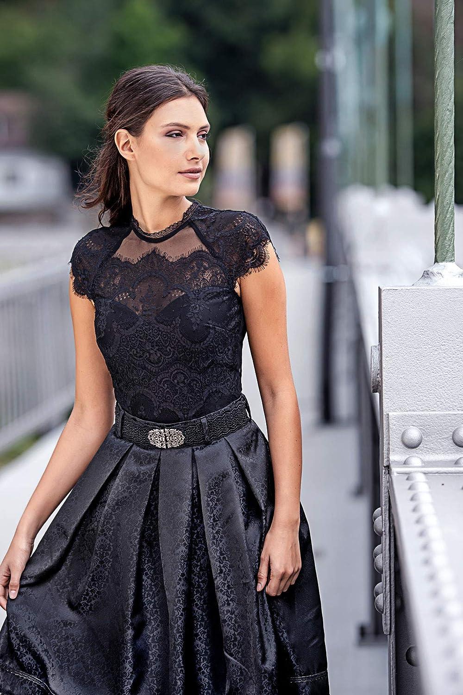 Marjo Damen Trachtenbody Nordika-Dali Body schwarz mit Spitze