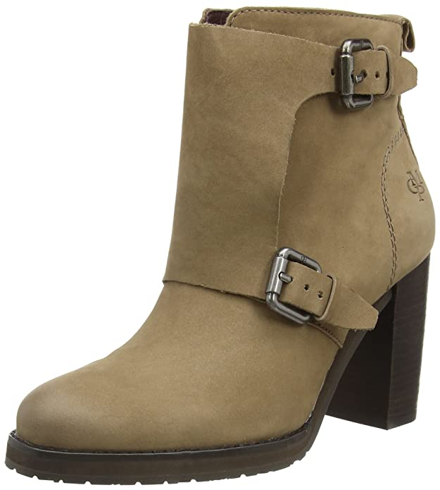 Marc O'Polo High Heel Bootie, Damen Kurzschaft Stiefel, Grau (717 Taupe), 36 EU (3.5 Damen UK)