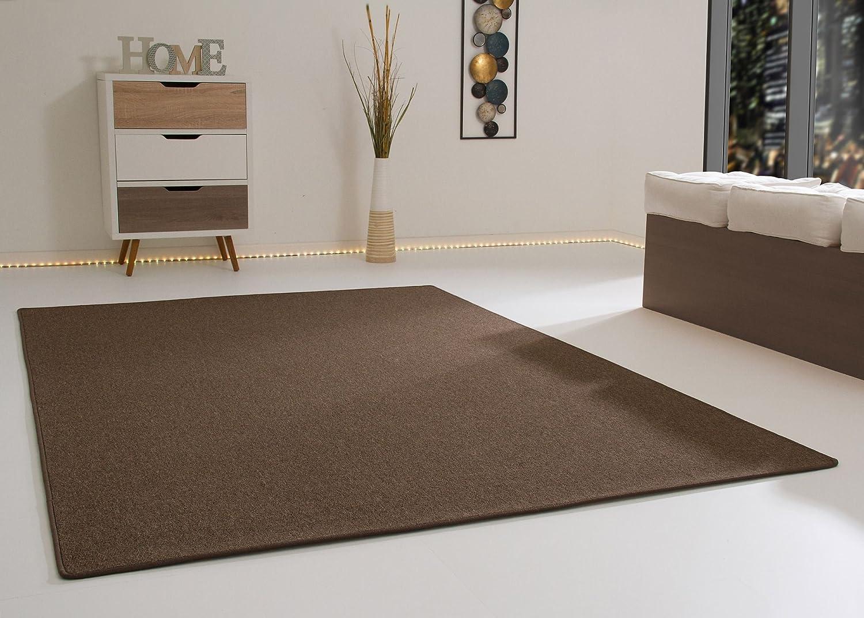 Designer Teppich Modern Meddon in Braun, GUT Siegel Zertifiziert, Größe  200x200 cm
