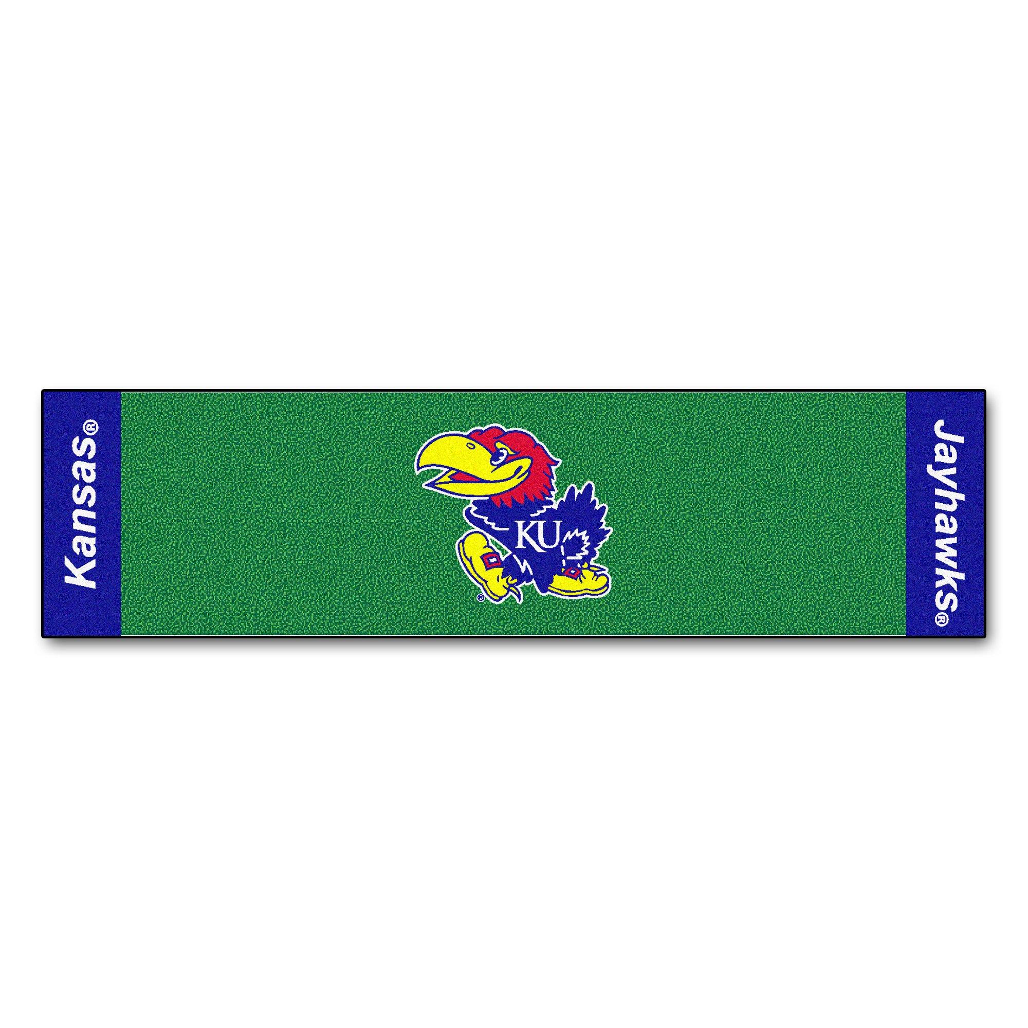 NCAA Kansas Jayhawks Golf Practice Putting Green Rug Runner 18'' x 72''