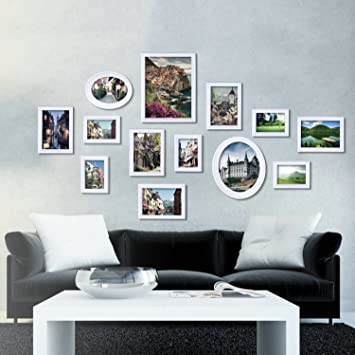 Amazon.com : OUBONI 13 PCs Wall Collage Picture Frames Poster Frame ...