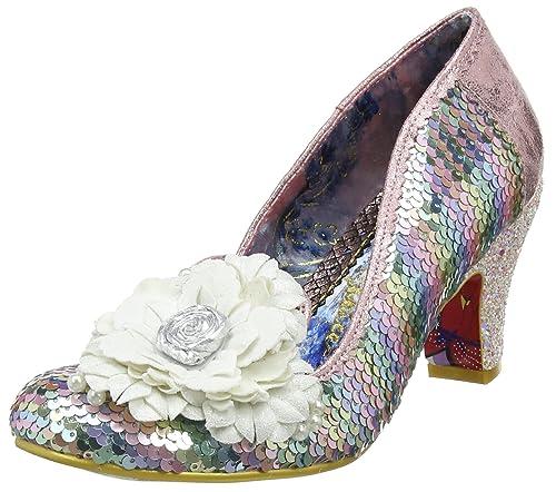 Zapatos de Tacón con Punta Cerrada de Sintético Mujer, Color Gris, Talla 40 Irregular Choice