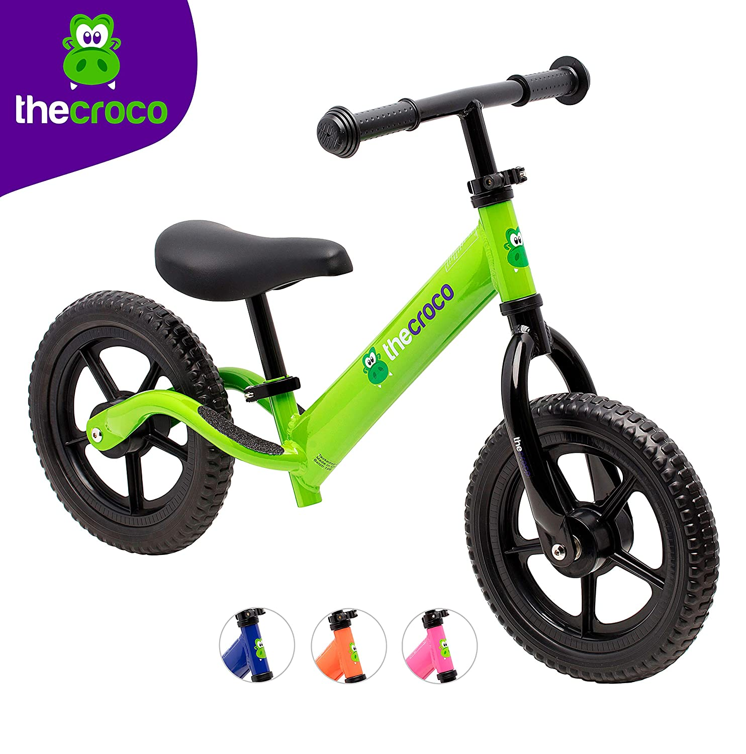 TheCroco Aluminum Lightweight Balance Bike for Toddlers and Kids
