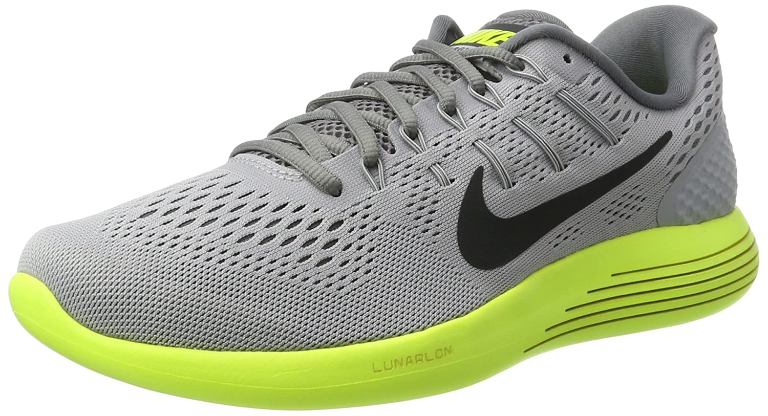 d29f660328c8 Nike Lunarglide 8 Wolf Grey Anthracite Volt Cool Grey Mens Running Shoes   Buy Online at Low Prices in India - Amazon.in