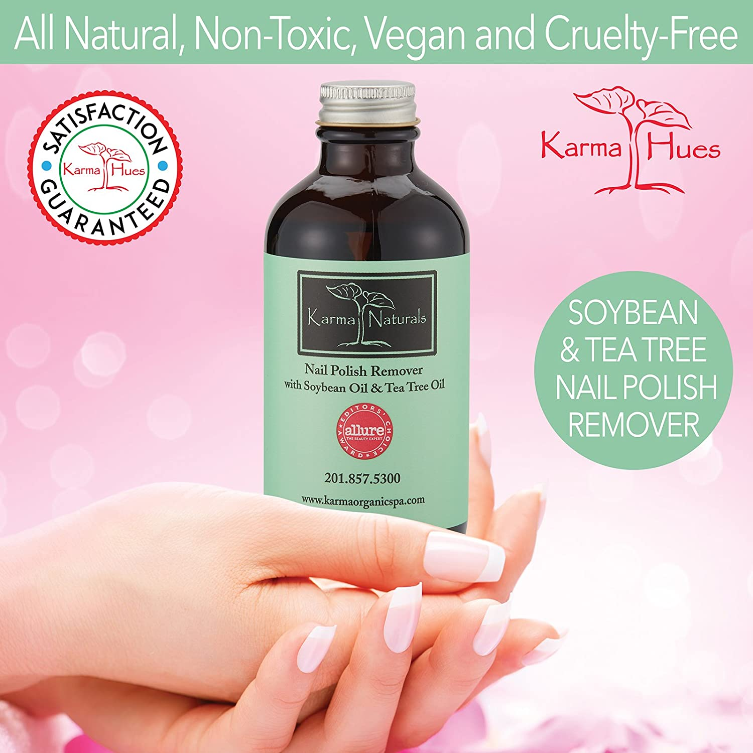 Amazon.com : Karma Naturals Nail Polish Remover with Soybean Oil ...