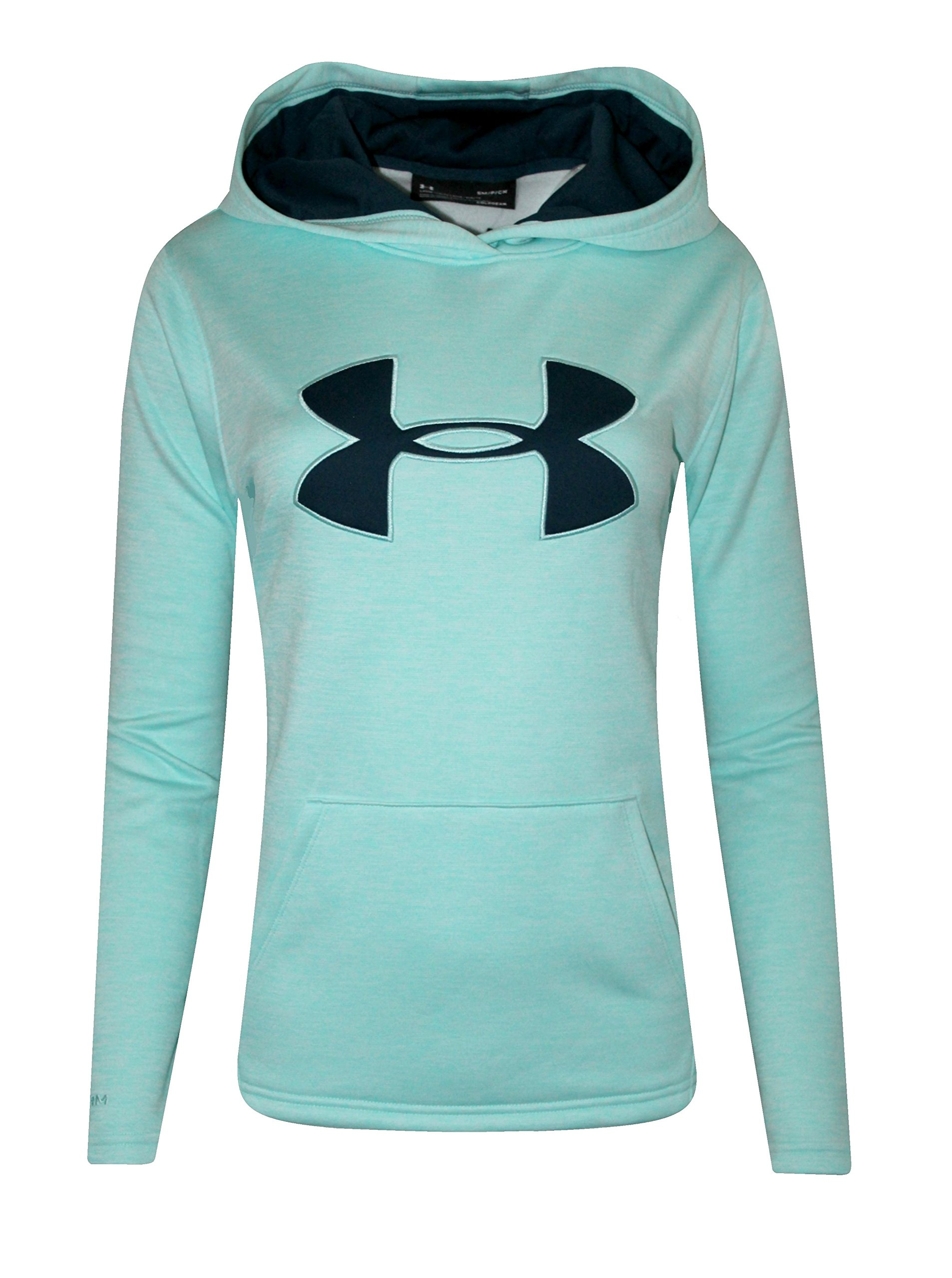 Under Armour Womens UA Storm Big Logo Hoodie HEATHER Athletic Shirt (L, Blue Infinity)