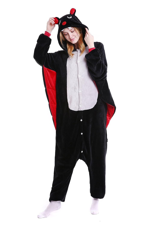 WSLCN Pajama Animal Unisex Onesie Flannels Costume Hooded Sleepsuit SY0393