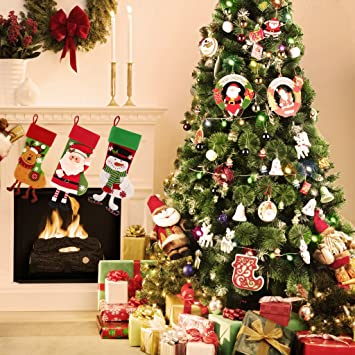 codream 7ft artificial christmas trees with stand for christmas decorations - Decorated Artificial Christmas Trees