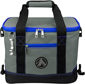 GigaTent Insulated Collapsible Cooler – Soft Lunch Box with Bottle Opener for Camping, Beach and Travel – Lightweight and Tear Resistant Fabric (Small - 12