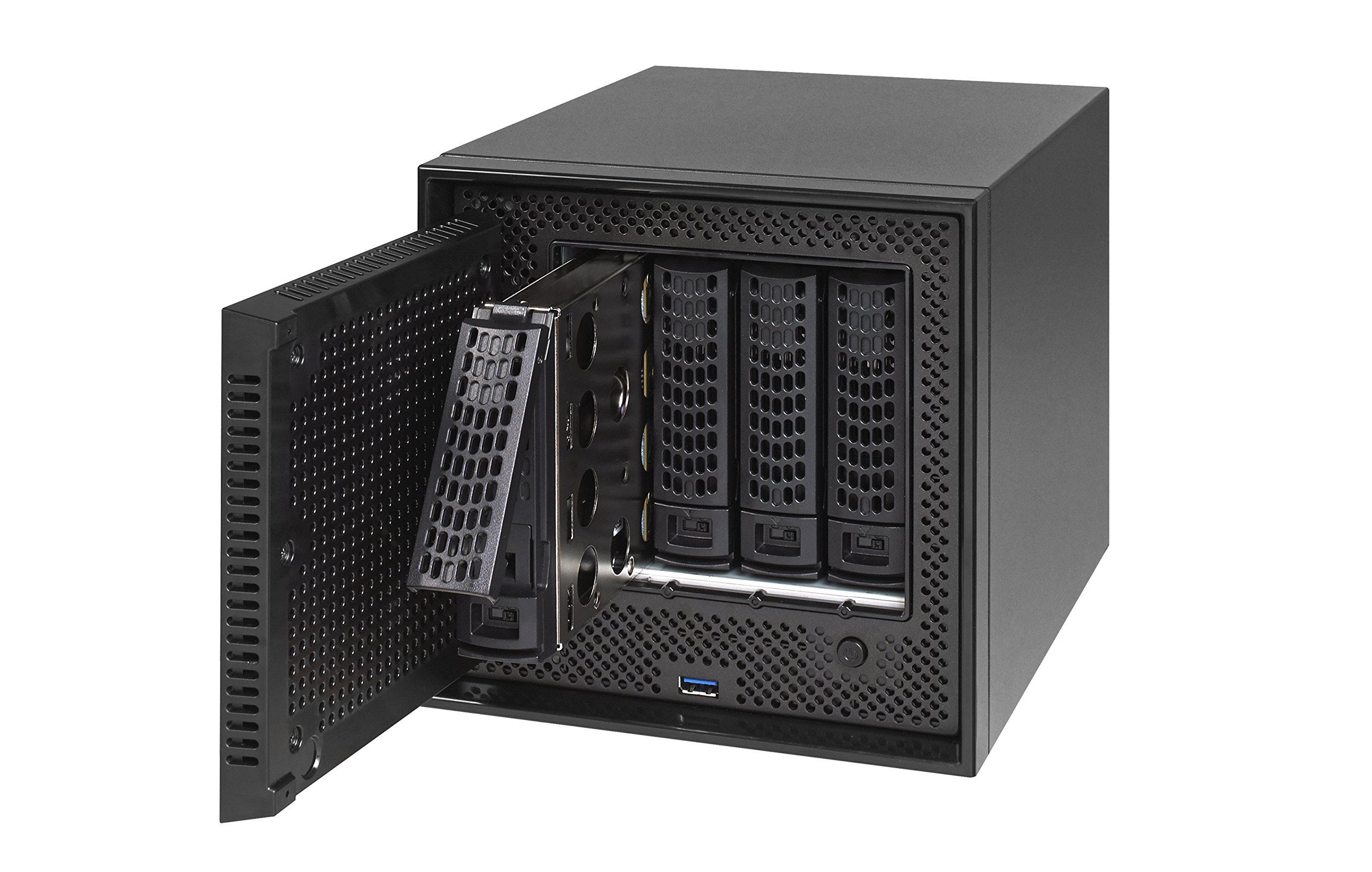 NETGEAR ReadyNAS RN524X00 4 Bay Diskless Premium Performance NAS, 40TB Capacity Network Attached Storage, Intel 2.2GHz Dual Core Processor, 4GB RAM 6 PREMIUM PERFORMANCE - Up to 20 gigabit per second data access, powered by a server processor 10G CONNECTIVITY - Utilize your 10G infrastructure for fast data sharing and backup throughput HIGH-PERFORMANCE - Get 2x faster business application processing with the latest 64-bit technology