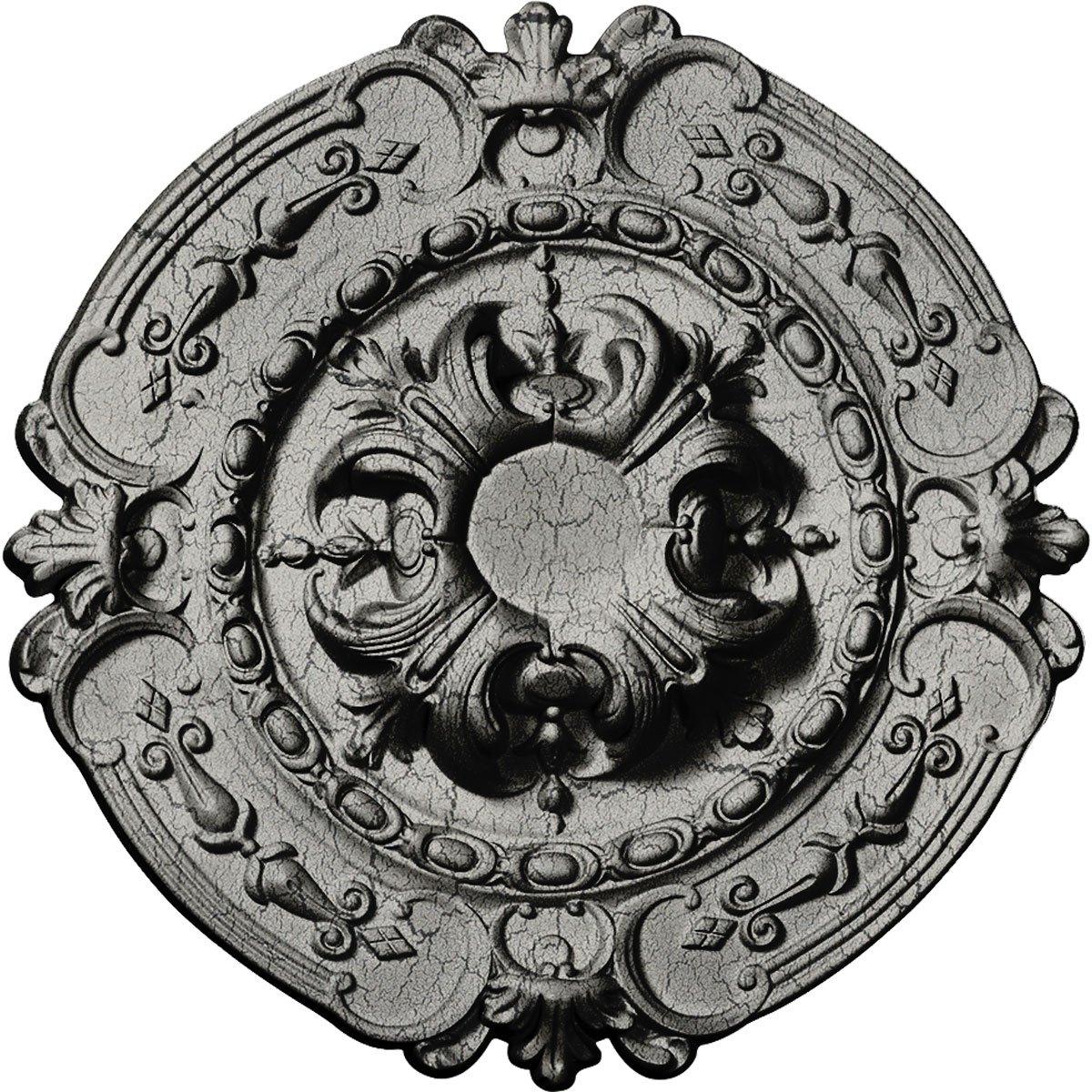 Ekena Millwork CM17SOUWC Southampton Ceiling Medallion, Ultra Pure White Crackle