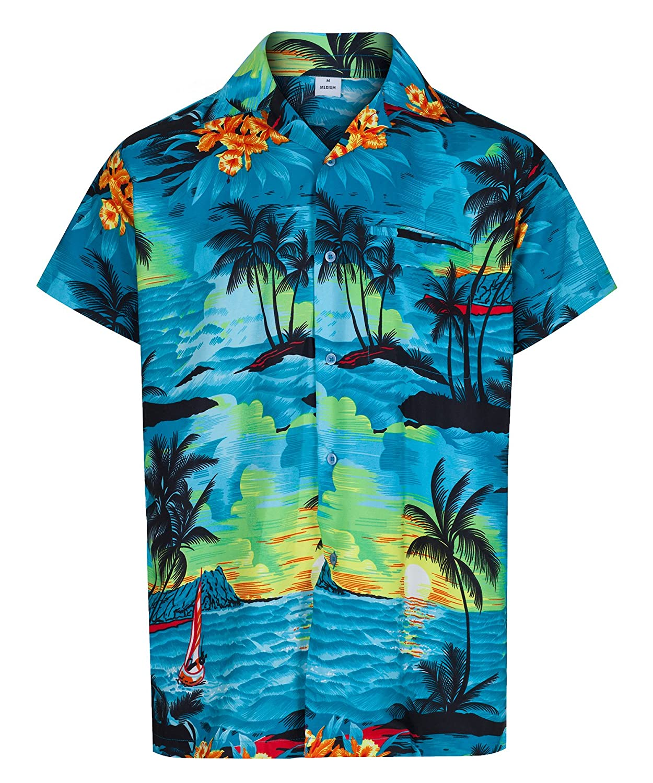 UNDER £8 MENS HAWAIIAN SHIRT STAG BEACH HAWAII ALOHA PARTY SUMMER HOLIDAY FANCY